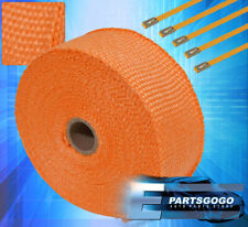 "360"" 30Ft Insulation Heat Wrap Shield Reduction Intake Induction Piping Orange"