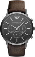 Nuevo Emporio Armani AR2462 Reloj con Cronógrafo Para Hombre Gris Plomo - 2 Años De Garantía