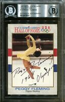Peggy Fleming 1968 Olympics Signed Hall of Fame Card Autograph BAS Beckett COA