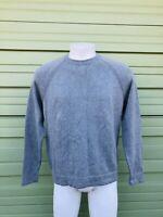 NWT ZARA MAN Gray pullover Sweater long sleeve round neck 100% cotton sz M  N66