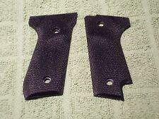 Custom Grips for Beretta Model 92S Fully Checkered Black Fits 92S Model Only