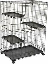 AmazonBasics Large 3-Tier Cat Cage Playpen Box Crate Kennel - 91 x 57 x 128.5