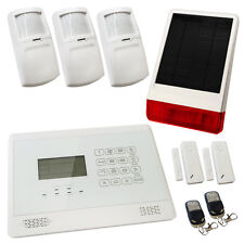 House Burglar Alarm Wireless White Sentry Pro Solar Kit 2 Solar Powered Siren