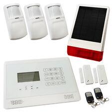 House Burglar Alarm Wireless White Sentry Pro Solar Kit 2 Solar Powered Siren