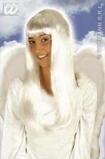 Long White Angel Wig Fairy God Mother Fairy Tale Angel Gabriel Fancy Dress