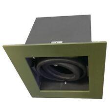 RUSTICO Verde SINGOLO soffitto proiettorino DA INCASSO REGOLABILE IMBOTTITA CON MOTORE BRUSHLESS 12 V 50 W Luce