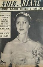 PRINCESSE MARGARET en COUVERTURE de NOIR et BLANC No 449 de 1953 SALON de L AUTO
