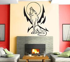 Wolf Night Predator Aggressive Tribal Mural Wall Art Decor Vinyl Sticker z922