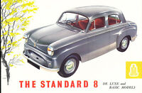 1955 Standard Eight British Car Original Dealer Sales Brochure Catalog