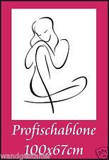 Schablone, Wandschablone, Wandschablonen, Malerschablone, Modernart -Frauenakt 6