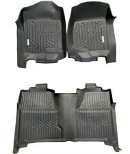 07-13 Silverado Sierra Crew Cab 3D Floor Mat All Weather Protection TPE Liners