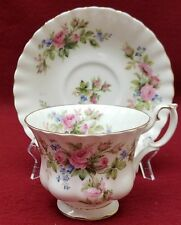 ROYAL ALBERT china MOSS ROSE pattern CUP AND SAUCER