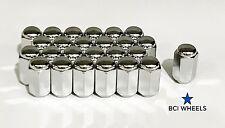 1.25 x12 NISSAN PATROL NAVARA  D22 D40 24pc + 1. WHEEL NUTS CHROME 21mm HEX