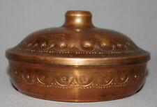 ANTIQUE HAND MADE COPPER BOWL WITH LID