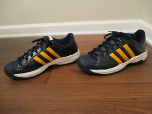 Rare Classic 2003 Used Size 10 Adidas Superstar 2G Shoes Anthracite Blue Gold