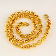"SALE 9ct 9K  Yellow Gold "" Gold Filled "" Men Rolled Belcher 8mm Necklace K903G"