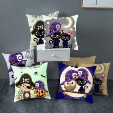 Halloween Pillow Cover Owl Series Pillowcase Sofa Waist Pillow Case Home Decor