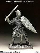 Russian combatant  Tin toy soldier 54 mm, figurine, metal sculpture