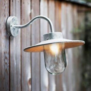 Garden Trading St Ives Swan Neck Light - Galvanised Steel