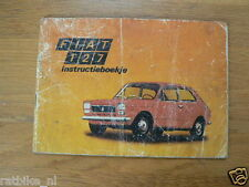 FIAT 127 19??   HANDLEIDING OWNERS MANUAL,INSTRUCTION BOOK