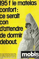 Publicité advertising 1985 Magasins TV Hi Fi Meubles Matelas Mobis