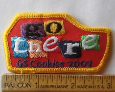 Girl Scout 2002 COOKIE SALE PATCH - GO THERE! Selling Award Badge Incentive