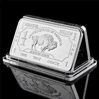 Bullion Germany Silver Fine Mint 1 Troy Ounce Buffalo European Metal Bar Collect