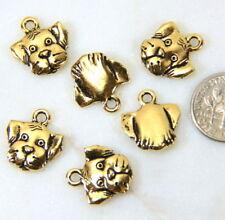 Doberman 3D Dog Pewter Charm ` Dobie /' for Making Bracelet Jewelry