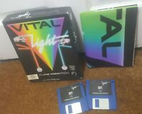 Vital Lights inc Poster instructions - Commodore Amiga Boxed