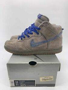 2003 Nike SB Dunk High Pro Iron Grey / Sport Royal / Gum 305050 241 RARE Sz 11.5