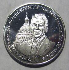 Republic of Liberia Ronald W. Reagan 40th President $10 Commemorative Coin