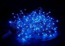 MINILUCIOLES 180 LED LUMIÈRES BLEU IP20 X INTERNE CÂBLE NOIR 5 M 8 JEUX LUMIÈRE