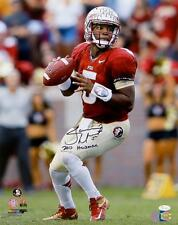 Jameis Winston Heisman Signed Seminoles 16x20 Passing PF Photo- Winston Hologram