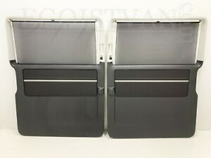 VW Bus T6 Caravelle Two Rear Sliding Door Cards Panel Titanium black Comfortline