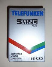 """""""Telefunken S VHS C 625"""", SE- C30, Compact Video Kassette Camcorder leer, OVP"""