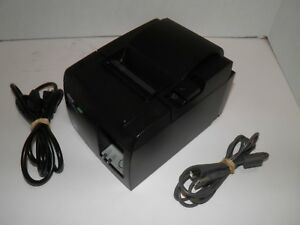 Star TSP100II Thermal POS Receipt Printer USB  143IIU w power cord & USB Cable