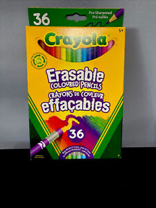 Crayola ERASABLE Colored Pencils, Assorted Colors, Set of 36