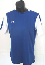 Under Armour~Blue & White FITTED HEATGEAR SOCCER SS SHIRT~Women's Small~NWT