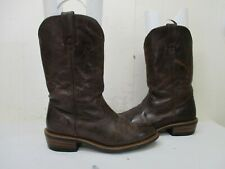 JOHN DEERE Brown Leather Cowboy Work Boots Mens Size 9 M Style JD5203