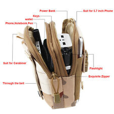 """6"""" Tactical Molle Waist Pack Utility Fanny Phone Pouch Bag For Running Hunting"""