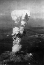Framed Print - Atomic Bomb Mushroom Clouds Over Hiroshima Japan 1945 (Picture)