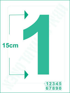 Zahlenschablone Nr.4 ● einzelne Zahl 15cm hoch ● Ziffern Schablonen