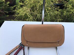 NWT Tumi Fraser Zip- Around Wallet Clutch Leather Brown