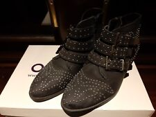OFFICE LEATHER STUDDED BOOTS SIZE 4 IN BOX
