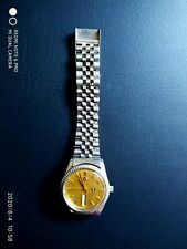 Rado Siver Horse Gold Dial 17j Auto. Men's S/S Jubilee style case & band. c1970s