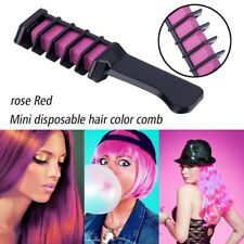 Mini 6 Colors Temporary Hair Coloring Comb Pink