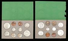 ORIGINAL 1958 US SILVER 20 COIN P & D MINT SET & ORIGINAL ENVELOPE