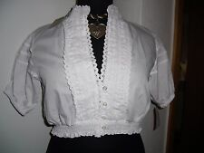 Neue weiße ALMSACH Dirndl Bluse Gr.44 mit toller Spitze