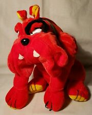 """Toy Factory Fierce Looking Red Plush Bull Dog, 8"""""""