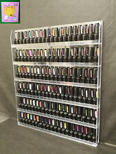 USA Clear Acrylic Nail Polish Display Wall Door Rack Can Hold 90 to 126 bottles